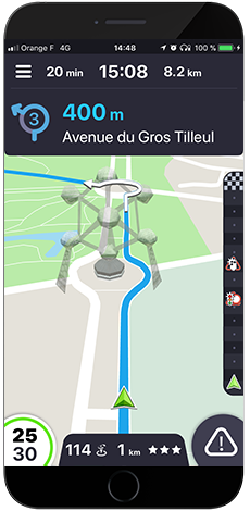 Navigation application Coyote