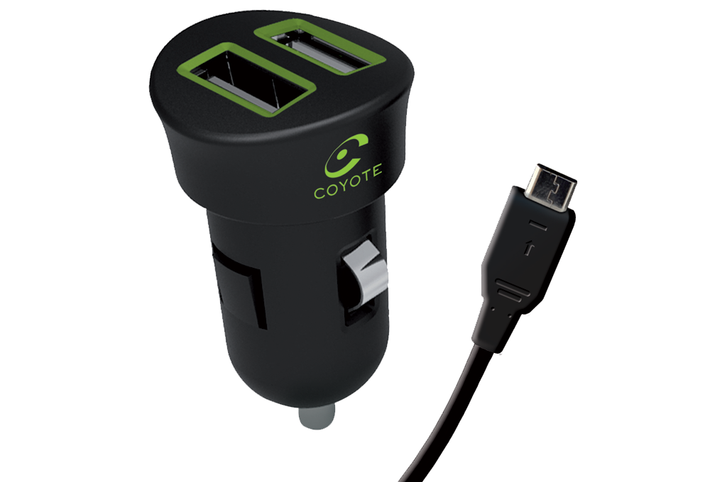 Chargeur allume-cigare 2 USB